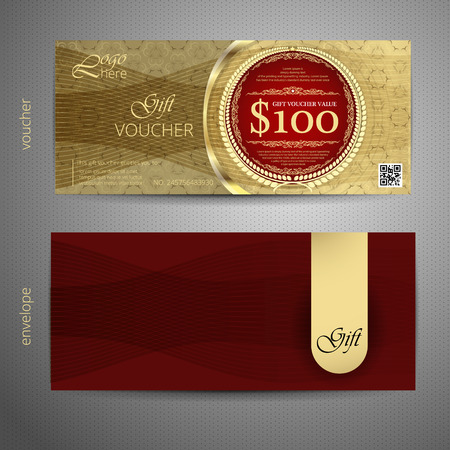 vinous: Voucher template with VIP premium vintage pattern. vector