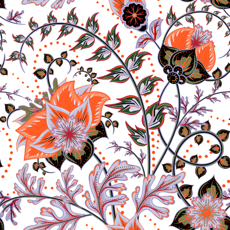 ottoman fabric: Seamless pattern. Vintage decorative elements. Hand drawn background. Arabic, Indian, ottoman motifs. Perfect for printing on fabric or paper.
