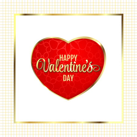 dearness: Greeting card with heart, vector illustration Illustration