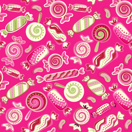yummy: Yummy colorful sweet lollipop candy cane seamless pattern. Vector illustration. Holidays background Illustration