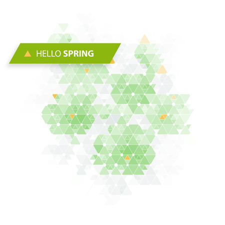 funky background: Hello Spring! Funky Background