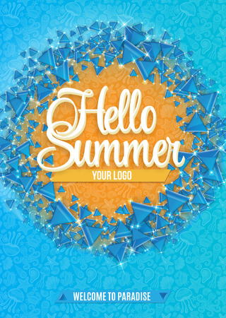 Hello Summer abstract background. Vector illustration. Eps 10. Vector Illustration