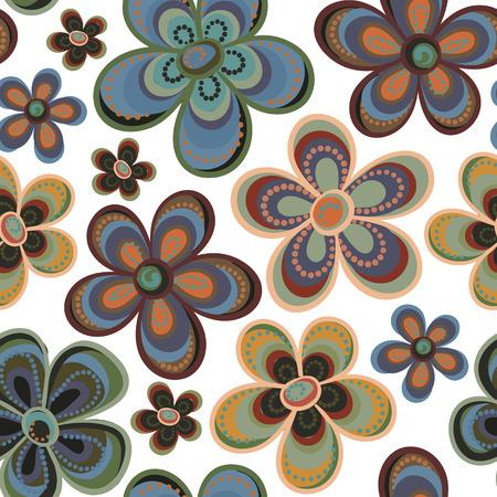tiny: tiny floral seamless pattern. Vector illustration.
