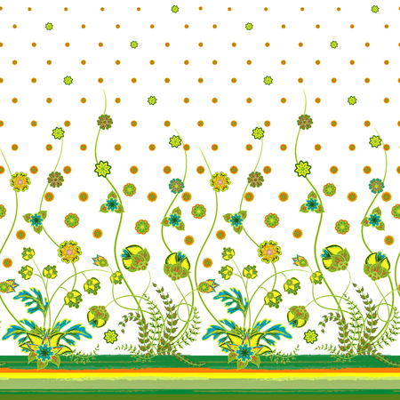 bedclothes: Vector elegant seamless pattern with abstract flowers for your design clothes, bedclothes, invitation, textile, card design etc