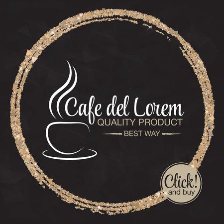 Coffee cup vector logo design template. Vector coffee shop labels