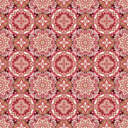 pink brown: Colorful lace pattern with ornate elements. Pink BROWN abstract background. Vector stock illustration.