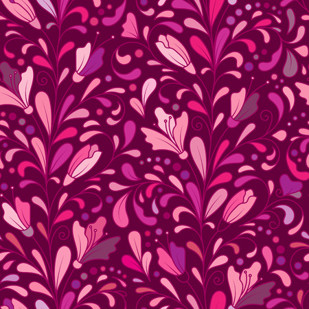 vinous: Ornate floral seamless texture, hand draw endless pattern with flowers. Vinous doodle. Can be used for wallpaper, pattern fills, web page background, surface textures.