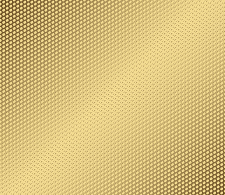 perforate: Vector abstract metal gold hexagon with cells.