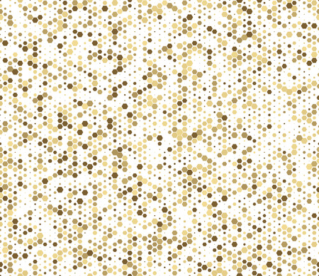 Seamless abstract mosaic background. Yellow, white colors. Hexagons geometric background. Design elements. Vector illustration