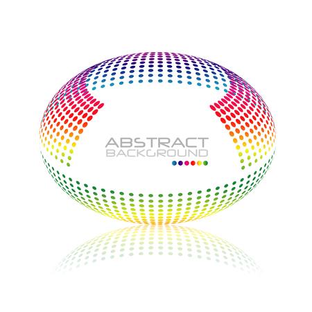 multicolored: Multicolored globe vector. Illustration