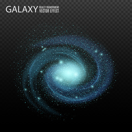 blue stars: Galaxy. Really transparent vector galaxy effect.