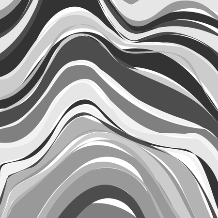 water ripple: Creative art illustration. Vector image. Marbled surface. Beautiful unique handmade texture. Liquid paint. Painted waves. Unusual artistic background. Abstract black and white art.