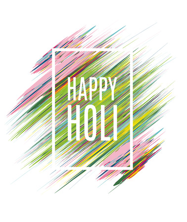rang: creative vector illustration of the Indian festival of colors Holi happy, drawing in watercolor style elements to design a poster and flyer gift cards art