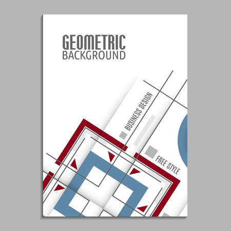 abstract template: Modern geometrical abstract vector template. Business brochure. Abstract geometric background. Cover template.