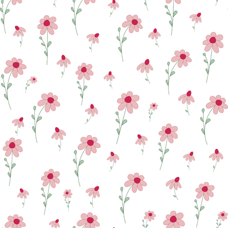 Seamless pattern with small flowers.