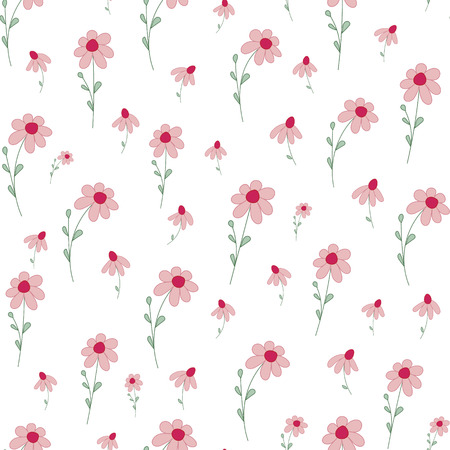 petites fleurs: Seamless pattern with small flowers.