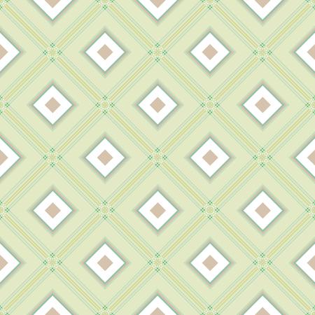 diagonale: Delicate romb geometric background pattern green white grey.
