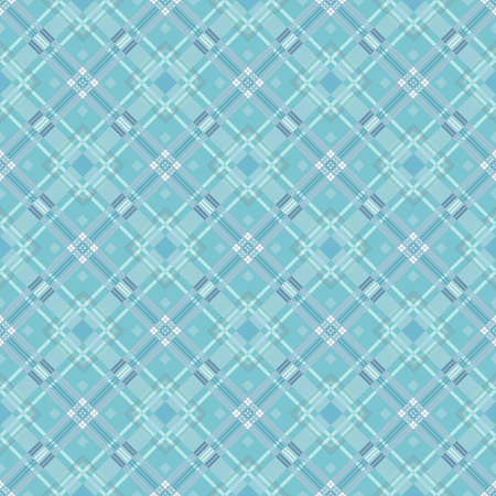 diagonale: Vector seamless pattern. Classic stylish texture. Repeating geometric tiles with dotted rhombus. Mens fashion textile background. Blue diagonale square backdrop.