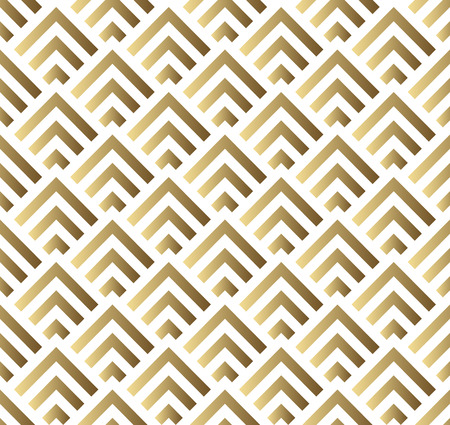Vector seamless pattern. Modern stylish square texture. Gold and white seamless geometric pattern