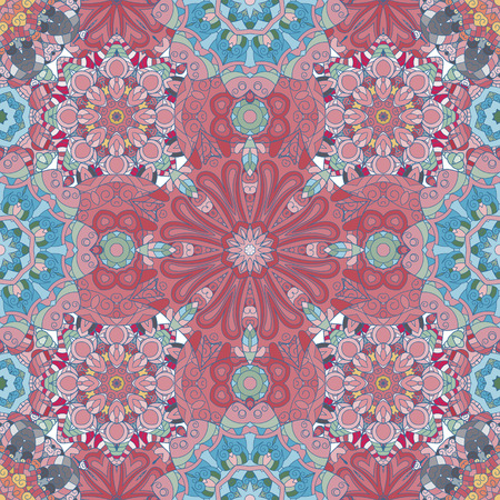 continued: Pastel pink blue Mandala Background for greeting card, Brochure, Card or Invitation with Islamic, Arabic, Indian, Ottoman, Asian motifs. Abstract Retro Stylized flowers wallpaper Endless Tile Backdrop