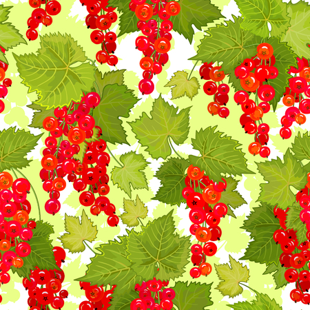 red currant: Red currant seamless pattern. Collection of berries. Vector illustration of berries for design menus, recipes and packages product.
