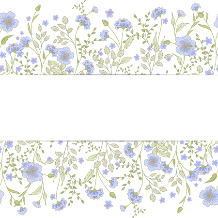 mother s: Vector greeting card template. Floral print, grunge striped panel and text frame. Great for Mother s Day, birthday, baby, Easter, wedding, menu, dinner party invitation, stationery Illustration