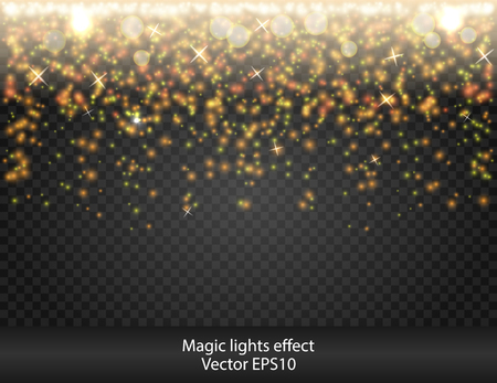shooting stars: Glow special effect light, flare, star. Firework. Isolated spark. Golden light. Really transparent effect Shooting Stars