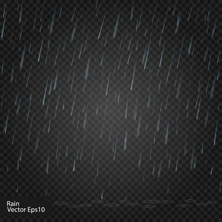 雨。本当に透明性の効果です。ベクトル イラスト アルファ