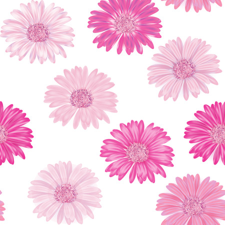 delicate: Seamless background with delicate pink gerbera.