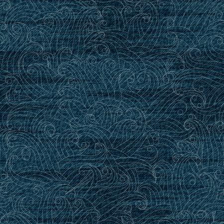 worn: Jeans texture pattern. Worn denim. Vector colorful illustration