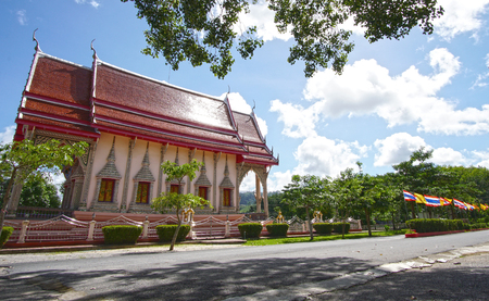 Thailand beautiful buddhist Temple near Phuket Island. Stock Photo