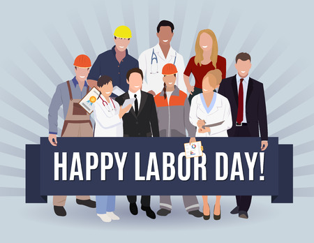 first nations: Happy Labor day american banner concept design, vector illustration