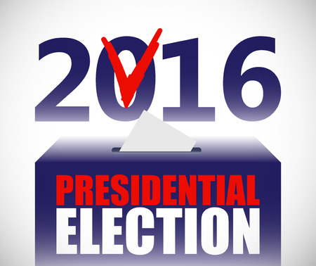 make a choice: Presidential election illustration. Ballot and politics. Putting voting ballot in ballot box. Voting and election concept. Make a choice image. Illustration