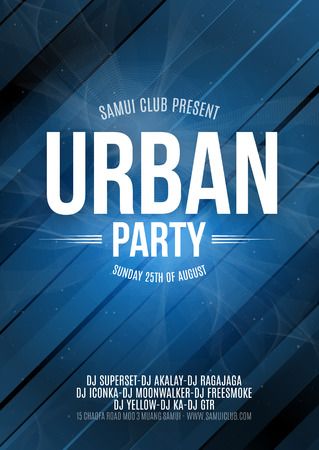 urban dance: Urban Dance Party Poster Background Template - Vector Illustration. Illustration