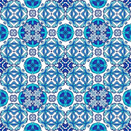 Fondo del azulejo de la vendimia. Patrón sin fisuras. Resumen papel tapiz. Textura vector real. ilustración tela. Ilustración de vector