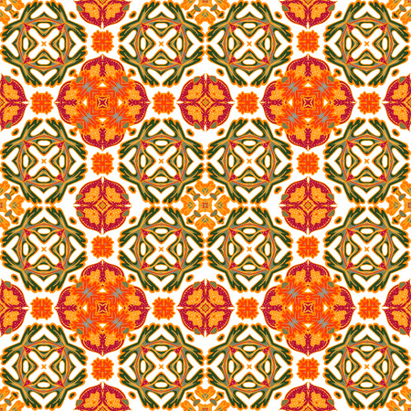 Background vintage tile. Seamless pattern. Abstract wallpaper. Texture royal vector. Fabric illustration. Ilustrace