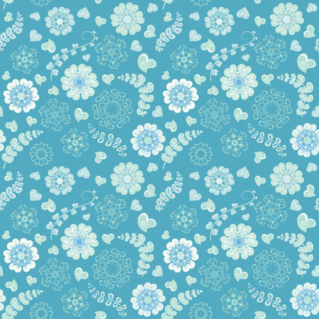 Floral seamless pattern with flowers. Copy square to the side and youll get seamlessly tiling pattern which gives the resulting image ability to be repeated or tiled without visible seams