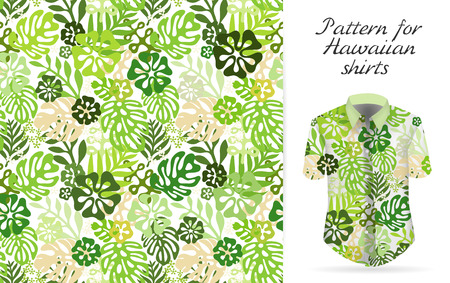 Tropical aloha pattern. Vector