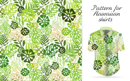 Tropische aloha patroon. Vector