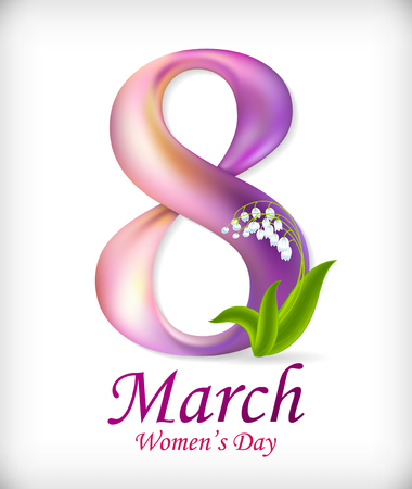 wallpaper International Women s Day: 8 March Womens Day greeting card template. Amazing figure eight. Vector