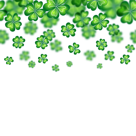 Saint Patricks Day border. Vector illustration. Irish symbols of the holiday. There is room for text. Party Invitation Design, Typographic Template. Lucky and success symbols.