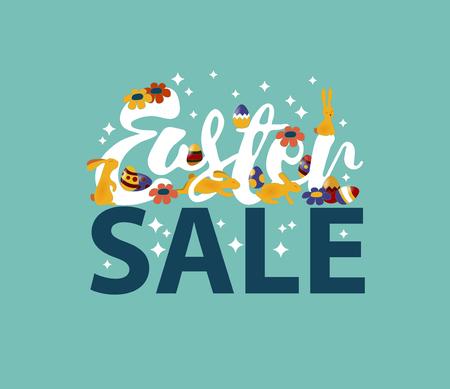 article marketing: Easter sale design EPS 10 vector royalty free stock illustration for greeting card, ad, promotion, poster, flier, blog, article, marketing, signage, brochure