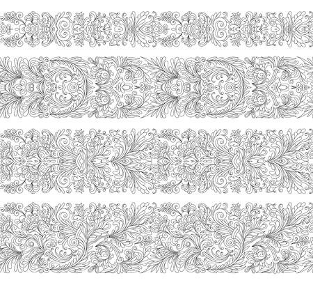 Set of vintage border brushes templates.