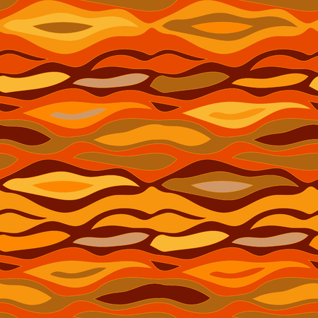 Seamless wavy vector pattern with abstract print. Safari textile collection.