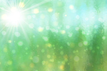 Abstract vector of backlight reflector and glitter bokeh lights background.