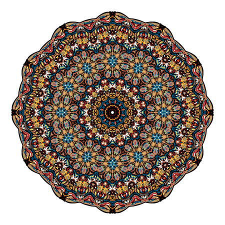 Flower Mandala. Vintage decorative elements. Oriental pattern, vector illustration. Islam, Arabic, Indian, moroccan,spain, turkish, pakistan, chinese, mystic, ottoman motifs.