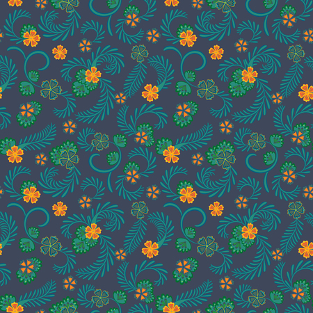 A simple blue floral pattern for wallpaper Illustration