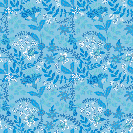 Retro hand draw flower pattern in the many kind of florals. Botanical Motifs scattered random. Seamless vector texture. For fashion prints. Printing with in hand drawn style on white background. Standard-Bild - 126833374
