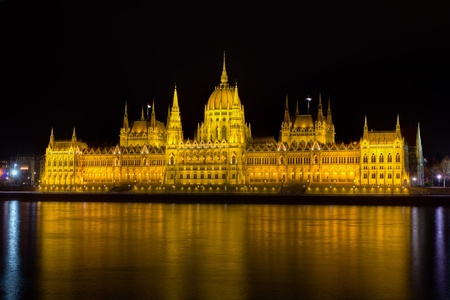 Hungarian Parliament at night, Budapest  Stock Photo - 13328888