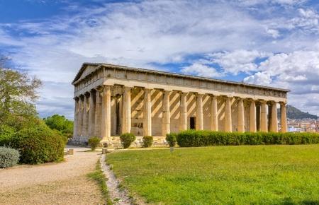 ヘファイストス神殿アテネ、ギリシャ 写真素材